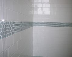 Penny Tile accent in the bathroom