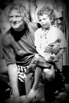 Robert Plant and his grandson (by daughter Carmen Jane)