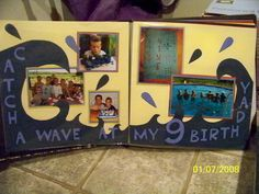 Birthday Splash scrapbook