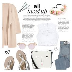 """All Laced Up for Spring with bebe: Contest Entry"" by tormadrienn ❤ liked on Polyvore featuring Bebe, Abercrombie & Fitch, Cheap Monday, Lulu Guinness, Kofta, Le Specs, Plane and alllacedup"