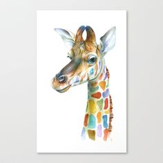 Giraffe Stretched Canvas by Brandon Keehner - $85.00