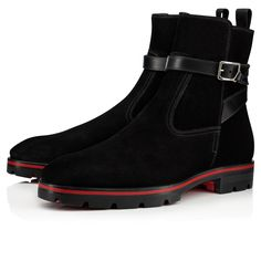 Christian Louboutin United States Official Online Boutique - KICKO CROC FLAT Black Leather available online. Discover more Men Shoes by Christian Louboutin Louboutin Online, Red Louboutin, Christian Louboutin Heels, Louboutin Shoes Mens, Mens Ankle Boots, Men Boots, Mens Boots Fashion, Fashion Outfits, Dope Outfits