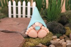 Tucked away under the tall trees of Gnome Woods forest, this little miniature baby gnome spends his days playing with the forest animals and, of course, napping! ****************** This handmade polymer clay baby gnome would be a lovely addition to your home. He would be delightful hidden in a small terrarium, in a houseplant, as a garden decoration, or even hanging out on your desk watching you work. This mini clay baby gnome is approximately 2 inches tall and is the perfect size to sit and…