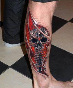 Leg 3D tattoo - 60+ Amazing 3D Tattoo Designs | Art and Design