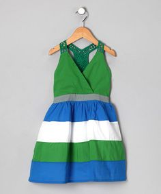 Take a look at this Blue & Green Color Block Colin Dress - Infant, Toddler & Girls by KandyCrew on today! Love the colors on this, so cute Green Colors, Blue Green, Infant Toddler, Toddler Girls, Little Dresses, Every Girl, Kids Wear, My Girl, Girl Outfits