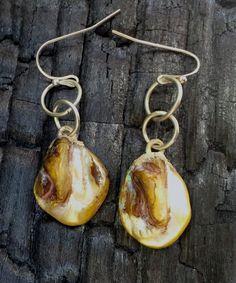 Pearl Earrings, Drop and Dangle Earrings,  Freshwater Pearls Earrings, June Birthstone Earrings, Beach Earrings by NaturefyingJewelry on Etsy