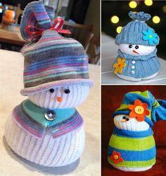 DIY Sock Snowmen (sooooo cute!!!)