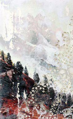 Cloudy Mountainscape Giclée Print