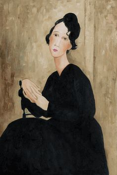 """Portrait of Madame Hayden,"" Amedeo Modigliani"