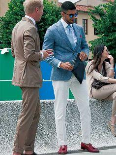 ライトブルー×ホワイトこそ、夏にふさわしいジャケットスタイル   メンズファッションの決定版   MEN'S CLUB(メンズクラブ)
