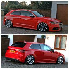 Audi s3 Bagged  #Air  #Audi  #Vossen