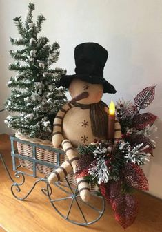 My newest vintage snowman sitting in a reproduction cart embellished with pine… Primitive Christmas, Country Christmas, Christmas Snowman, Christmas Holidays, Christmas Wreaths, Merry Christmas, Christmas Ornaments, Diy Xmas, Christmas Projects