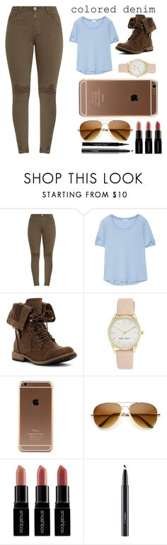 """""""Untitled #1772"""" by velvetgirl10 on Polyvore featuring Splendid, Nine West, Smashbox, MAC Cosmetics, Givenchy and coloredjeans"""
