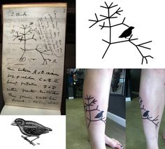 How I designed my tattoo.  My interpretation of Darwin's tree of life.