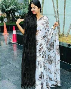 by hairluster Really Long Hair, Super Long Hair, Big Hair, Indian Long Hair Braid, Braids For Long Hair, Loose Hairstyles, Indian Hairstyles, Rapunzel Hair, Long Black Hair