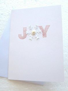 Check out this item in my Etsy shop https://www.etsy.com/listing/250264306/handmade-stamped-joy-christmas-card-5