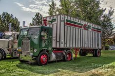 Big Rig Wall Art - Photograph - White Freightliner Consolidated Freightways Cab Over Semi Truck by Nick Gray All Truck, Big Trucks, Freightliner Trucks, Semi Trailer, Cab Over, Grey Art, Vintage Trucks, Semi Trucks, Photographic Prints