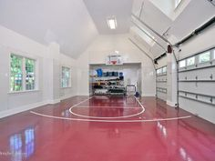 The property 40 Old House Ln, Port Washington, NY 11050 is currently not for sale on Zillow. View details, sales history and Zestimate data for this property on Zillow. Home Basketball Court, Basketball Room, Basketball Tricks, Backyard Basketball, Sports Court, Clive Christian Kitchens, Garage Design, House Design, Luxury Garage
