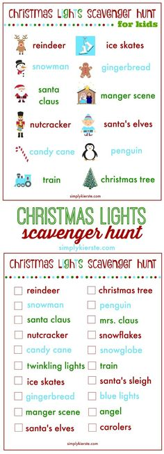 Christmas Scavenger Hunt – 100 Days of Homemade Holiday Inspiration
