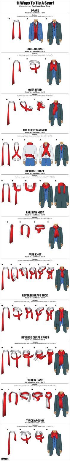 Plus: Estilo ejecutivos: 11 formas de ponerse una bufanda de forma elegante.