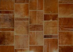 Alfombra realizada en cuero premium Argentino - Modelo BARBARA con tientos - ::: Design Carpets Alfombras :::