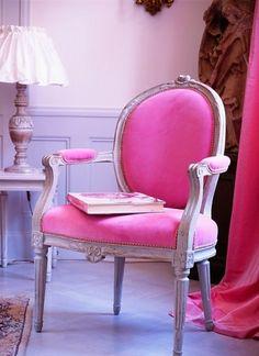 Decoração, poltrona, rosa, cadeira, livro