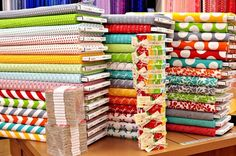 Fabric Heaven! Great place to look for fabric, patterns, and lots of ideas. ;o).
