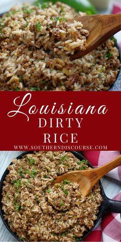 Cajun Recipes, Rice Recipes, Side Dish Recipes, Beef Recipes, Dinner Recipes, Cooking Recipes, Healthy Recipes, Cajun Cooking, Dinner Ideas