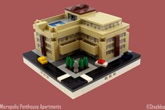 Lego Mocs Micro ~ Micropolis Penthouse Apartments | by -=Steebles=-