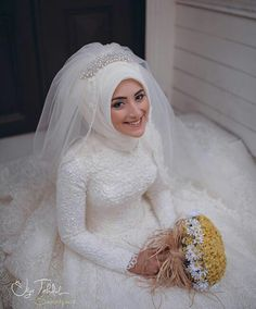 Hijab Bride, Muslim Couples, Wedding Dresses, Brides, Weddings, Fashion, Bride Dresses, Moda, Bridal Gowns