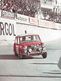 """Habermann & Sons Classic Motorcycles and more """"At that stage I was a professional rally driver, but with the Monte victory I could really use my name."""" - Paddy Hopkirk, winner of Rally Monte Carlo 196 Bmw, Audi, Rally Drivers, Rally Car, Sports Car Racing, Race Cars, My Dream Car, Dream Cars, Classic Mini"""