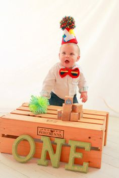 Boys 1st birthday outfit. Hat and Bow Tie by ChiclyHooked  #FirstBirthday #photography #boy #fashion #baby #theme #ideas #CakeSmash #birthday