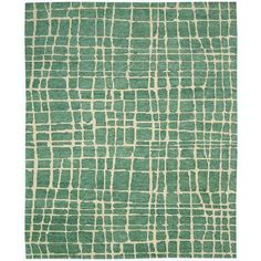 Nourison Tahoe Modern Turquoise/Green Rug (7'9 x 9'9)