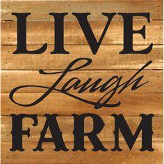Artistic Reflections Live Laugh Farm Textual Art