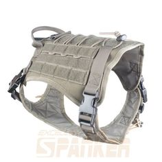Tactical-Dog-K9-Combat-Molle-Vest-Harness-3-Sizes-9-colors-option