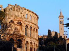 amphitheatre in Pula Pula, Croatia, Barcelona Cathedral, Notre Dame, Coast, Europe, Travel, Viajes, Destinations