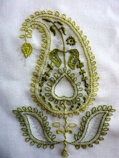 chikan embroidery - how pretty this would look embroidered on a jacket or blouse!