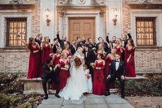 Nothing quite puts you in the spirit more than today's burgundy and evergreen Christmas wedding complete with Santa and a guest appearance by Frosty. Warm Colour Palette, Warm Colors, Color Palettes, Wedding Looks, Wedding Day, Green Pocket Square, Evergreen Wedding, Velvet Bow Tie, Single Red Rose