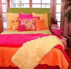 Colorful Leopard Animal Print Bedding Set For Girls