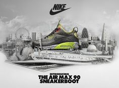 Nike Air Max 90 SneakerBoot advert