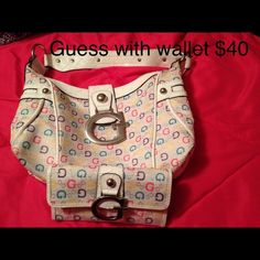 Selling this Small Guess bag with wallet in my Poshmark closet! My username is: xansgirl. #shopmycloset #poshmark #fashion #shopping #style #forsale #Guess #Handbags