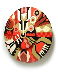 Rite of Spring/painting on plywood by Tracy Walker. #tracywalker #graphic