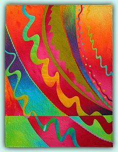Melody Johnson: Arte Edredones - Galerías - Abstracciones Geométricas 1