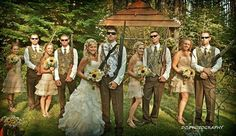 "One of my favorites from my wedding! ""Duck Dynasty"" / hunters pose for wedding party picture."