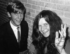 Larry Lent backstage with Janis Joplin at the Sam Houston Coliseum 1969