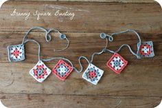 tea, crochet & me | granny square bunting #tutorial #freecrochetpattern