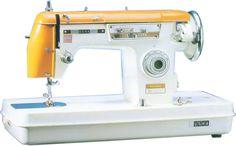 Usha Flora Yellow zig-zag sewing machine