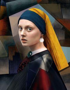 Russian fashion photographers Andrey Yakovlev and Lili Aleev Fine Art Photography, Portrait Photography, Fashion Photography, Tableaux Vivants, Portrait Studio, Johannes Vermeer, Famous Artwork, Russian Fashion, Female Portrait