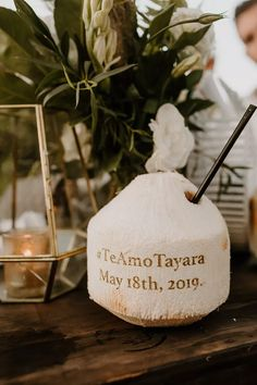 Personalized coconut drinks! Photo: Katie Ruther