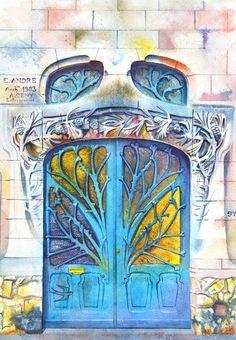Les-aquarelles-de-portes-de-Viktoria-Kravchenko-5 _ 92 Quai Claude le Lorrain, Nancy, France En savoir plus sur http://www.dessein-de-dessin.com/les-aquarelles-de-portes-de-viktoria-kravchenko/#a3KVZBoRqBfiC9lf.99